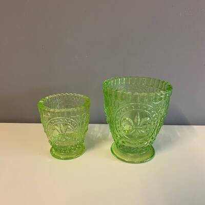 Grünes Glas