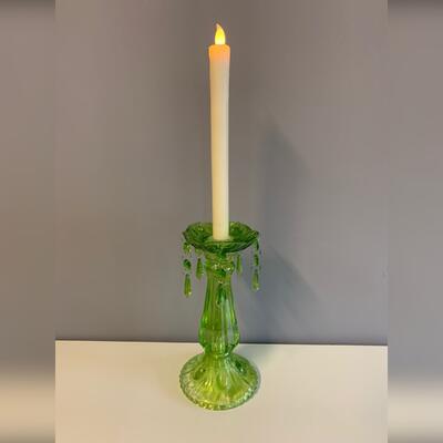 Grüner Kerzenständer Glas