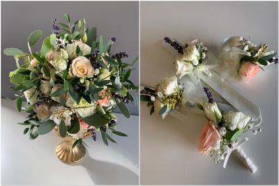 Brautstrauß und Anstecker